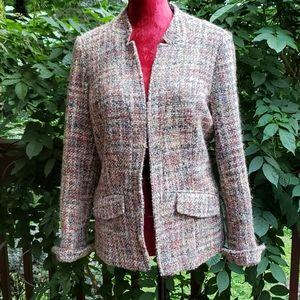 Coldwater Creek Multi Wool Blend Jacket Size 10